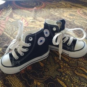 Baby CONVERSE High Tops Black Size 3